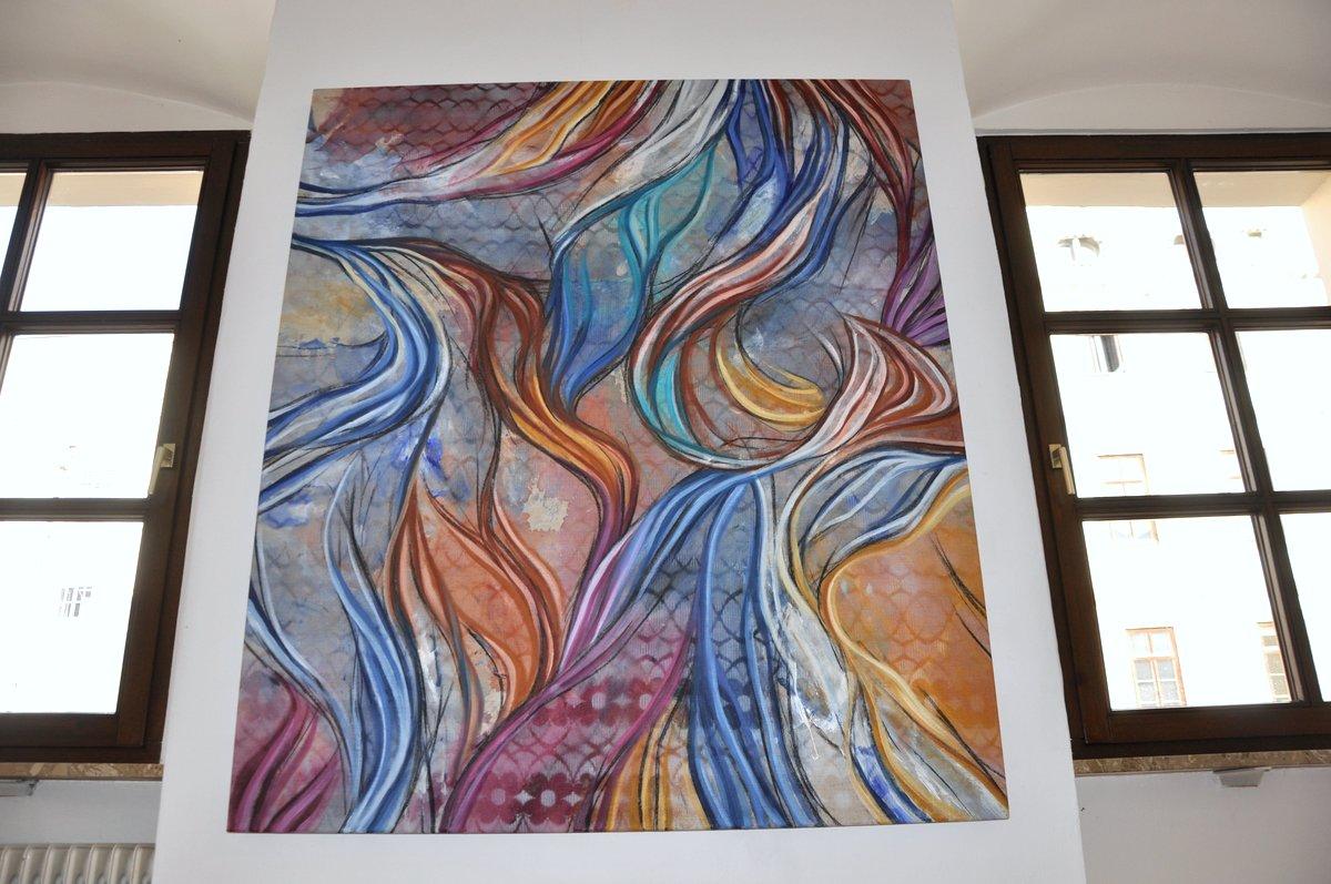 Ausstellungsansicht Gedankenwege / Lineare Schichtungen
