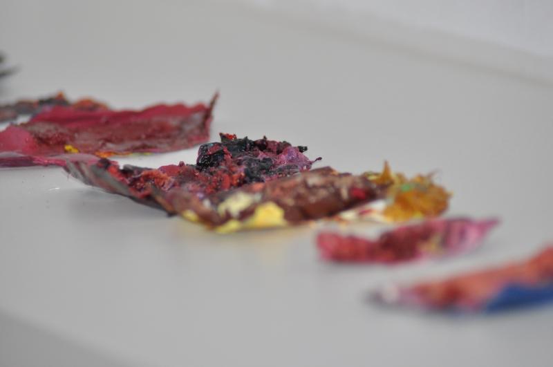 Kollaterale - Spuren -getrocknete Ölfarben